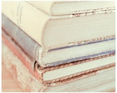Books Photo Print 8x10 - Pastel Soft Office Home Decor - Child Room Decor - europeanstreetteam
