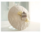 Great Gatsby lace wedding bowl with initials.