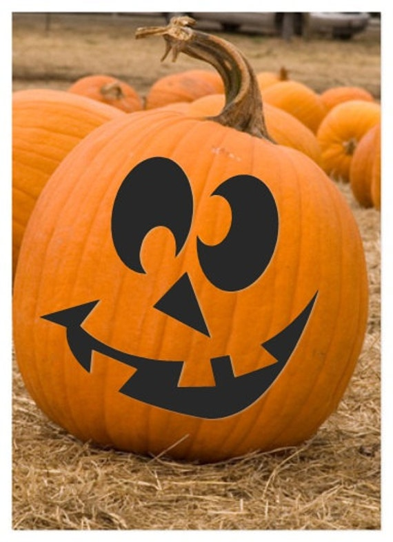 Items similar to cute halloween pumpkin carving jack o