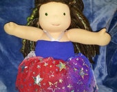 """Sparkle Patriotic Dress made to fit a 15"""" Waldorf Style Doll"""