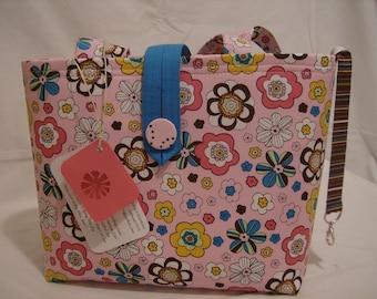 Jazzy Flowers in the Pink Handbag