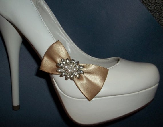 Bridal Shoe Clips,Rhinestone Shoe Clips,Wedding Shoe Clips, Pearl Shoe Clips, Bow Shoe Clips, Satin Shoe Clips, MANY COLORS, clips for Shoes