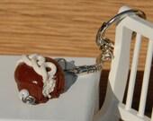 Hostess Cupcake Inspired Keychain Polymer Clay Stocking Stuffer Teacher Gift Secret Santa Gift