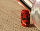 Red Focal Glass Bead Lampwork