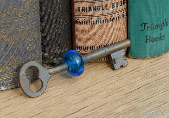 Vintage Key Lampwork Glass Bead Pendant Supply Steampunk
