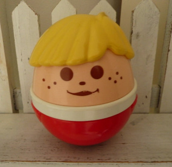Little Tikes Weeble Wobble Chime Toy Chunky People Roly Poly