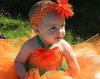 Little Pumpkin Tutu Dress - Fall wedding tutu - Orange tutu dress - Pumpkin Tutu Dress - Baby Fall Dress - Pumpkin dress - Pageant Dress