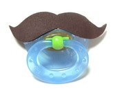 Brown Mustache pacifier 6 to 18 months