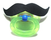 Black Mustache pacifier 6 to 18 months
