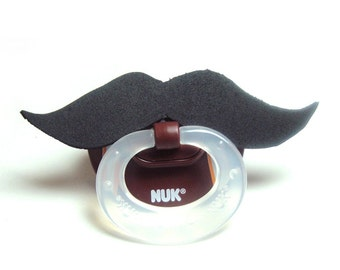 Black Mustache football pacifier 6 to 18 months