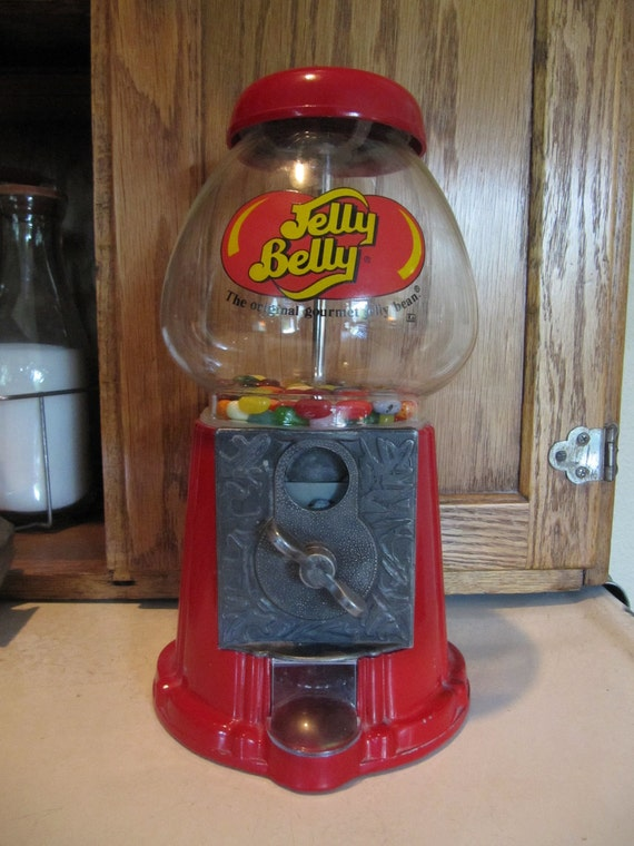 "Vintage Jelly Belly Dispenser Candy ""Penny a Turn"" Home Decor Child Children Housewares Kitchen Kitschy"