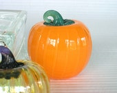 1 Hand Blown Glass Pumpkin