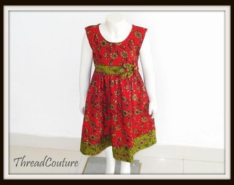 Toddler Dress  Sewing Pattern,  Christmas Dress Sewing Pattern,  Easy Dress  with Headband
