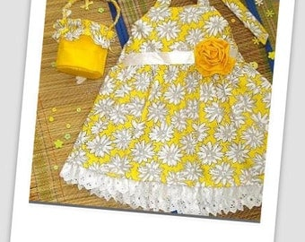 Girls Sundress Sewing Pattern, INSTANT DOWNLOAD, 2 to 10 years, Easy sundress with  flower basket pattern pdf
