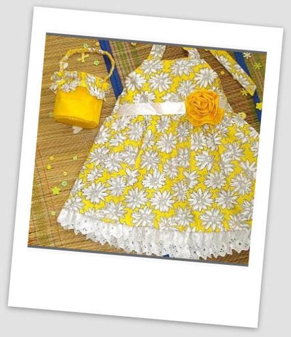 Girls Sewing Pattern Dress , Easy Girl's Sun Dress (pdf pattern), 2 to 9 years