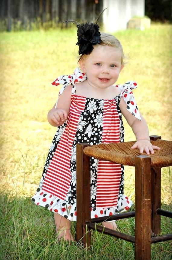 Sewing Pattern for Pillowcase Dress , Pdf Sewing Pattern, Newborn to 8  Years, Paneled Pillowcase Dress