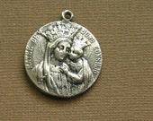 Catholic Holy Medal in White Brass