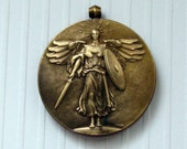 Antique Bronze Victory Medal World War I-WWI