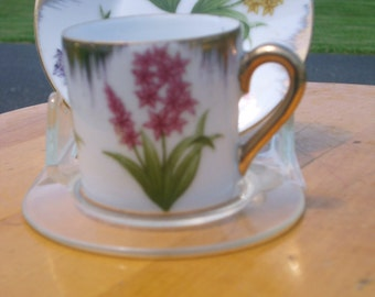 Vintage Demitasse Can Cup and Saucer