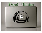 Macbook Decal Snow Globe Vinyl Macbook Sticker Laptop Decal Apple