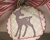 Christmas Gift Tags-Woodland Deer Silhouette