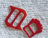 Red Belt Buckles set of 2