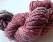 handspun and dyed bulky merino yarn