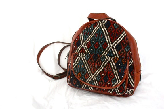 80's Turkish Kilim Tribal Backpack