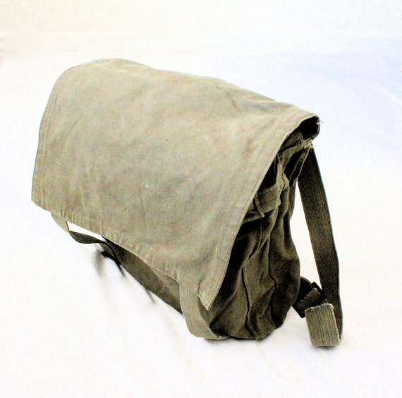 Vintage Military Canvas Backpack Tote