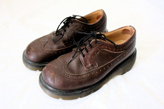 Vintage Doc Marten Chocolate Leather Saddle Loafers US Sz 6/8