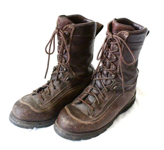 Vintage Mens Danner Rustic Leather Work Boots Sz 8