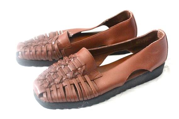 Vintage Bourbon Leather Huarache Sandals Sz 7.5