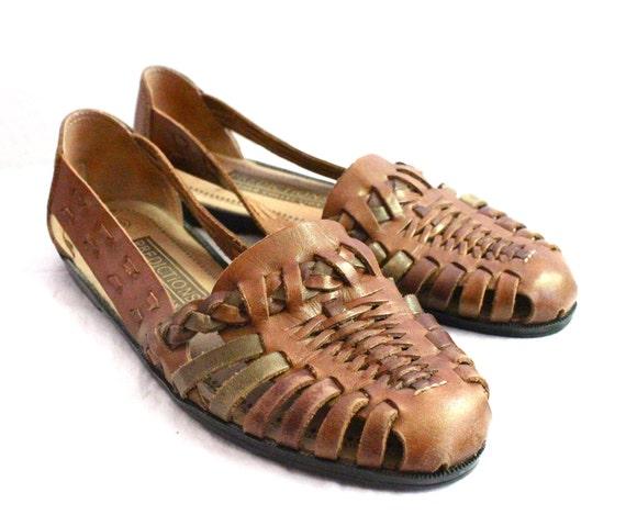 3f0705fd073c Vintage Bourbon Leather Huarache Sandals Sz by claudedonohoshop