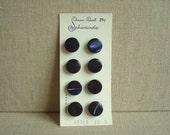 Vintage Schwanda pearl buttons, cobalt blue