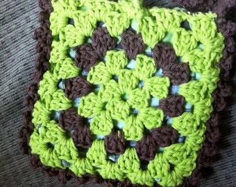 Crocheted Granny Square Purse #116