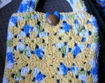 Crocheted Granny Square Purse #114