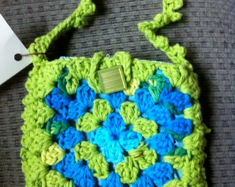Crocheted Granny Square Purse #150