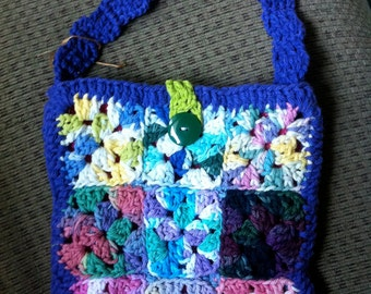 Crocheted Granny Square Purse #101