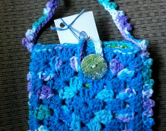 Crocheted Granny Square Purse #160