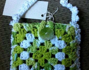 Crocheted Granny Square Purse #130