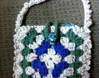 Crocheted Granny Square Purse #127