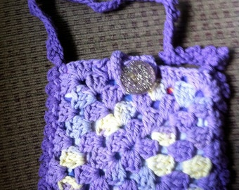 Crocheted Granny Square Purse #155