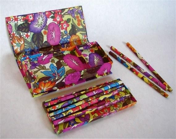 Vintage Pencil Box / Pencil Set