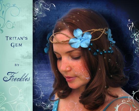 Turquoise Beaded Hair Wreath