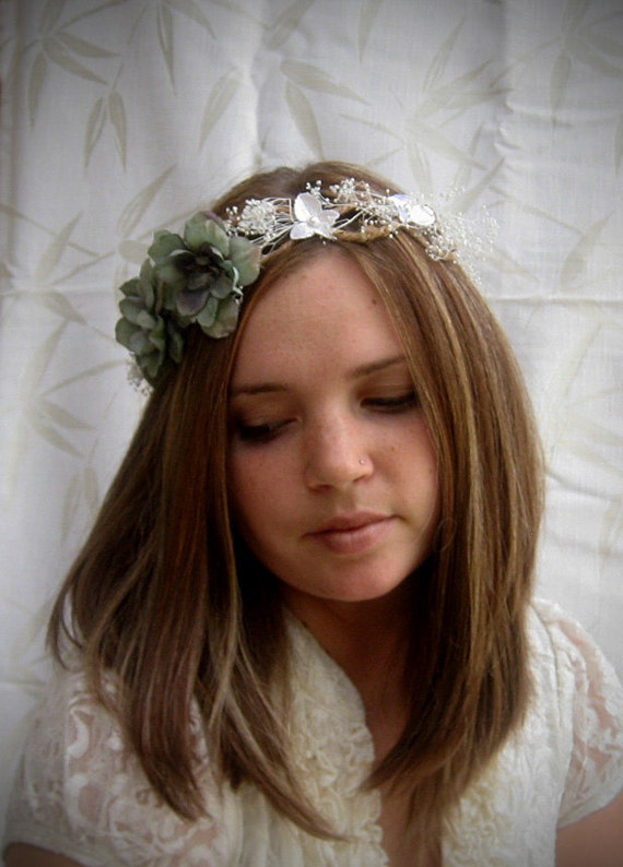 SALE Pastel Bridal Flower Crown Hair Wreath