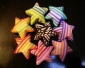 7 Rainbow Origami Stars plus 1 Zebra Star