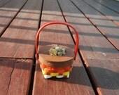 Spring Basket with Dandelion Decoration