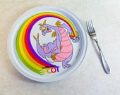 Disney Collectible Figment the Dragon Epcot Plate 1980's. Rare .