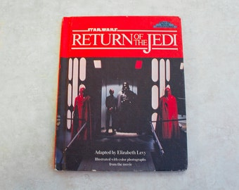 1983 First Edition Star Wars Book - Return of the Jedi - Hard Cover Adventure Book