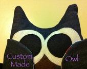 Custom Order for Nicky P - 1 Large Denim Owl